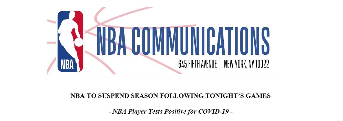 NBA suspends league play